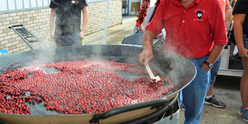 Cranberry Jubilees is one of fest goers favorite treats!