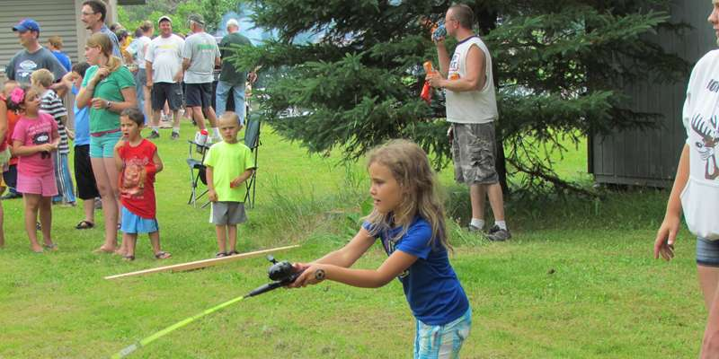Kids Panfishing Day casting contest
