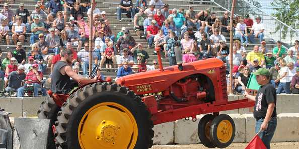 Tractor Pulls were a big attraction at the Dodge County Fair