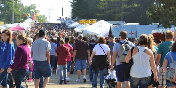 A very large crowd gathers annually in the small village of Warrens for the world's largest Cranberry Festival!