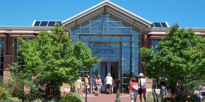 John Michael Kohler Arts Center features 12 galleries, threatre, cafe, museum shop, and more.