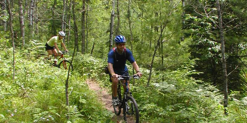 Mountain biking in Bayfield County