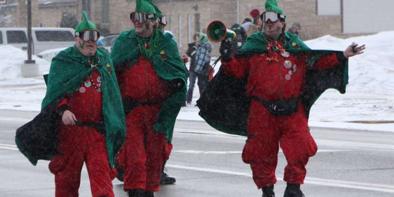 The St. Paul Winter Carnival Vulcans are also on hand for the Siren St. Patrick's Day Parade.