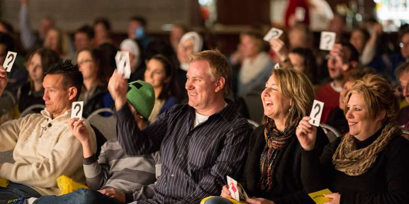 Visitors have a great time at the Beloit International Film Festival!