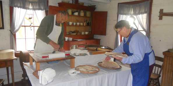 Watch our demonstrators make flat bread, along with many other pioneer demonstrations.