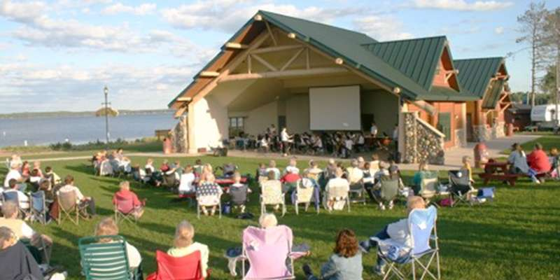Concert at the Shell Lake Pavilion