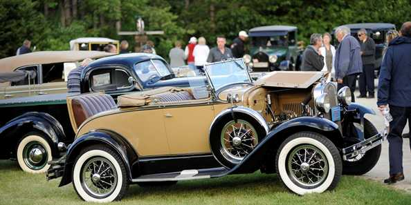Guests can enjoy a vintage vehicle show at Midsummer Magic, featuring cars from the 1940's and earlier.
