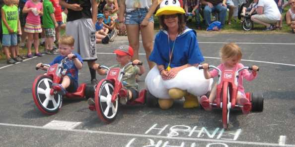 Get ready, get set, GO at the Big Wheel Races!
