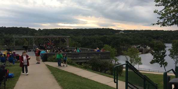 Enjoy the view of the river at Mike Seversen Overlook Park.
