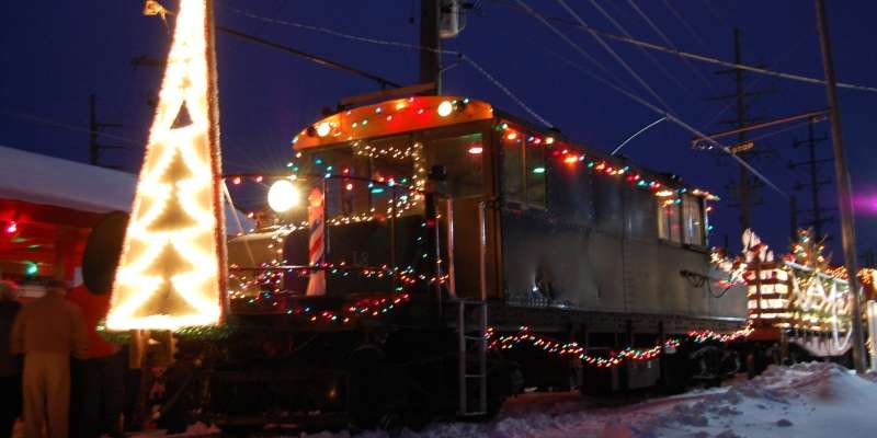The East Troy Electric Railroad Santa Parade Train. (Vanessa Lenz photo)