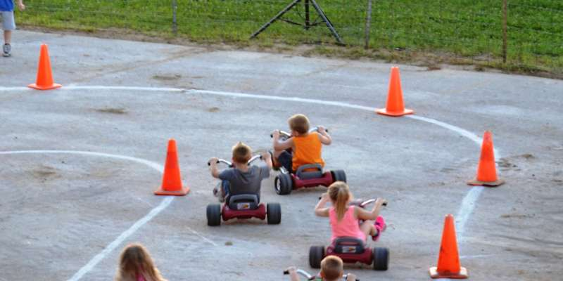 Big Wheel Races held at the annual Hug-a-Pig Competition