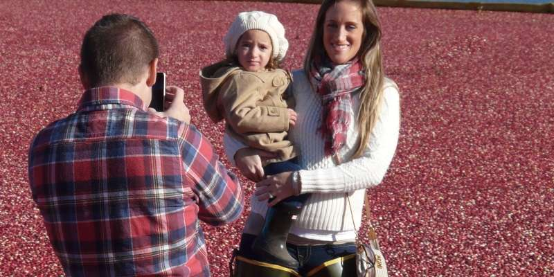 Young couple & daughter at Wetherby Cranberry Company.