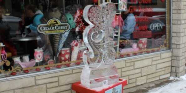 Sandy's Popper Ice Sculpture 2014