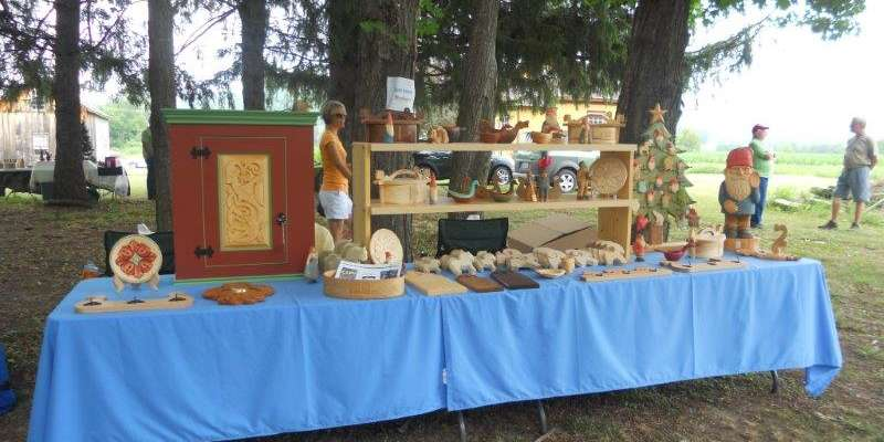A wide variety of artists and craftsmen display their wares at the fair