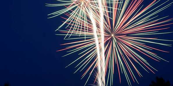 Clam Lake, Wisconsin July 4th Fireworks Celebration