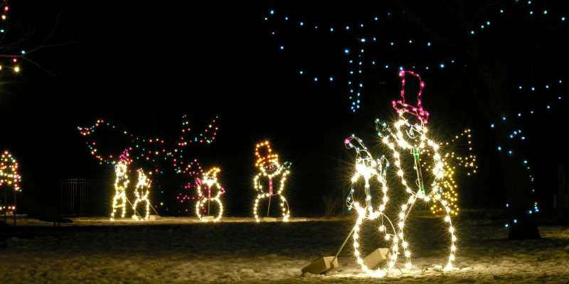 Christmas Village lighted displays