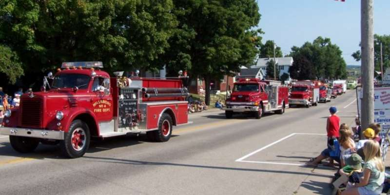 Hillsboro fire trucks in the Labor Day parade a few years ago.