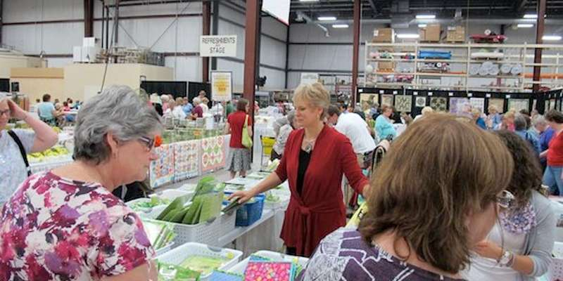 Nancy Zieman was on hand to discuss all things sewing and quilting. *courtesy Nancy Zieman