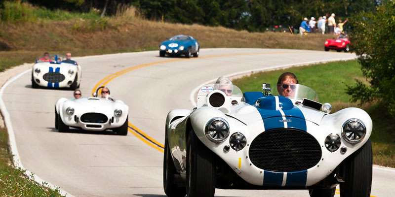 Gorgeous cars showcase racing history.