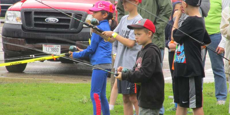 A little instruction before sending out the anglers at the 2016 event.