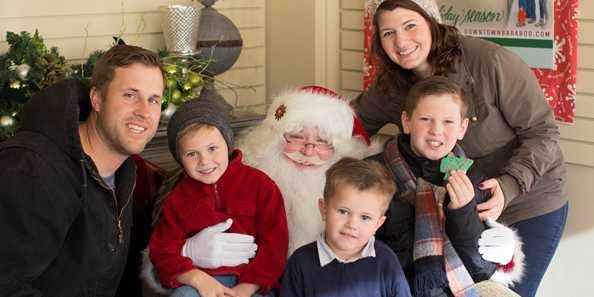 Visits with Santa every Saturday