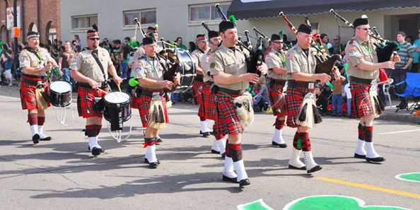 St. Patrick's Day Parade | Tripoli Scottish Highlanders (2012)