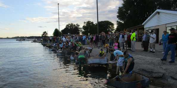 The Cardboard Regatta is a big draw at Lake Days.