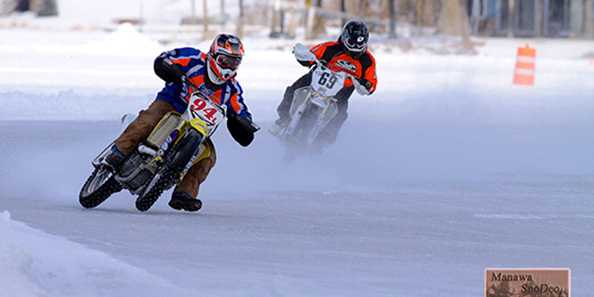 Motorcycles on Ice