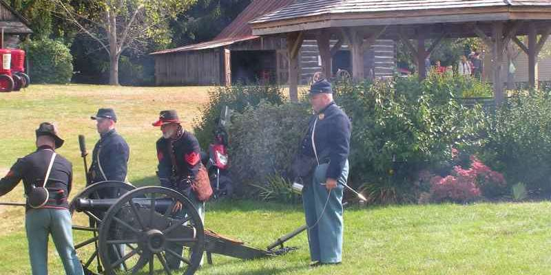 Civil War enactment
