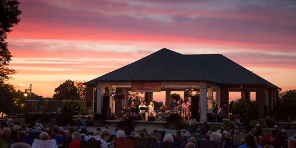Enjoy beautiful sunsets at Riverside Park in Beloit during free Music and More concerts!