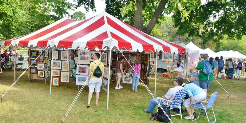 Art in the Park in Lake Geneva