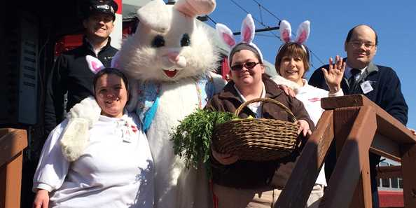 Bunny Train Crew at the East Troy Railroad