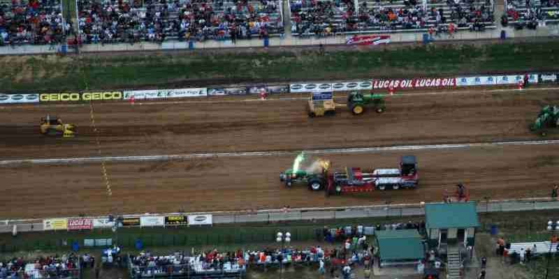 Bird's eye view of the Hillsboro Charity Tractor Pull