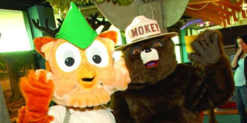 Woodsy Owl & Smokey Bear