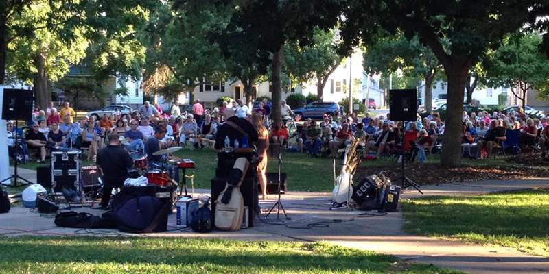 Live on Main concert at Whitney Park.