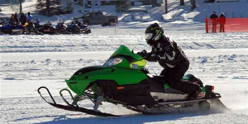 Snowmobile Radar Run in St. Germain