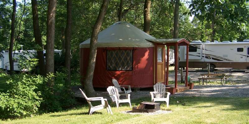 Yurt at Apple Creek Campground