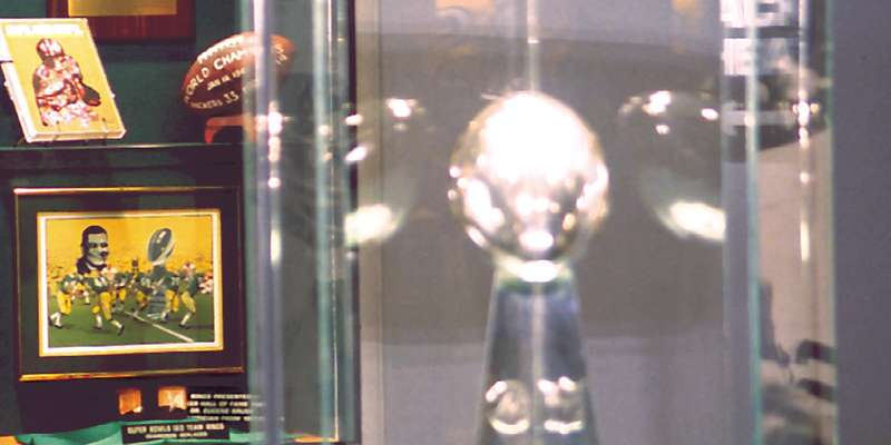 Lombardi Trophy at the Packers Hall of Fame