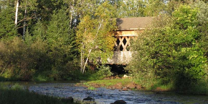 Smith Rapids Covered Bridge over the South Fork of the Flambeau River