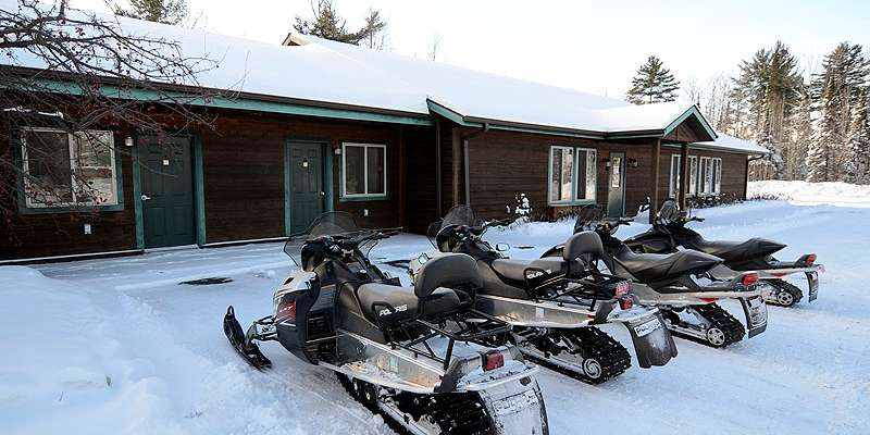 On Clam Lake Snowmobile Trails