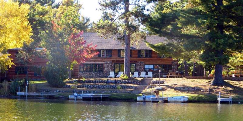 Whispering Pine Lodge-View from Lake
