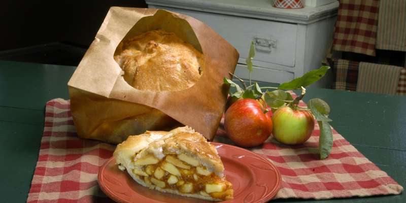 Apple Pie Baked in a Paper Bag