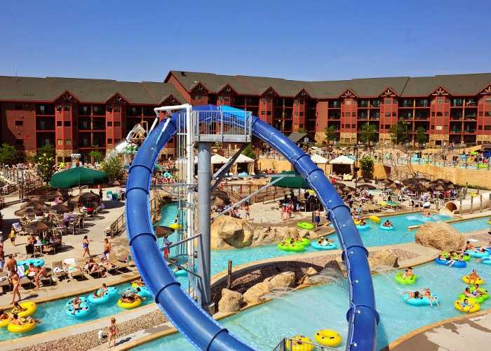 Panoramic view of exterior water park