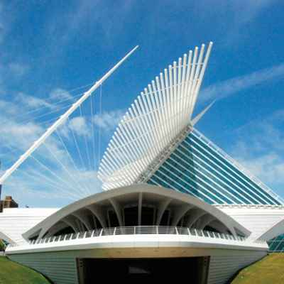 Exterior view of Milwaukee Art Museum
