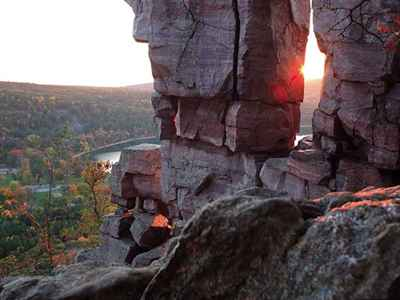 Rock Formations at Devil's Lake State Park