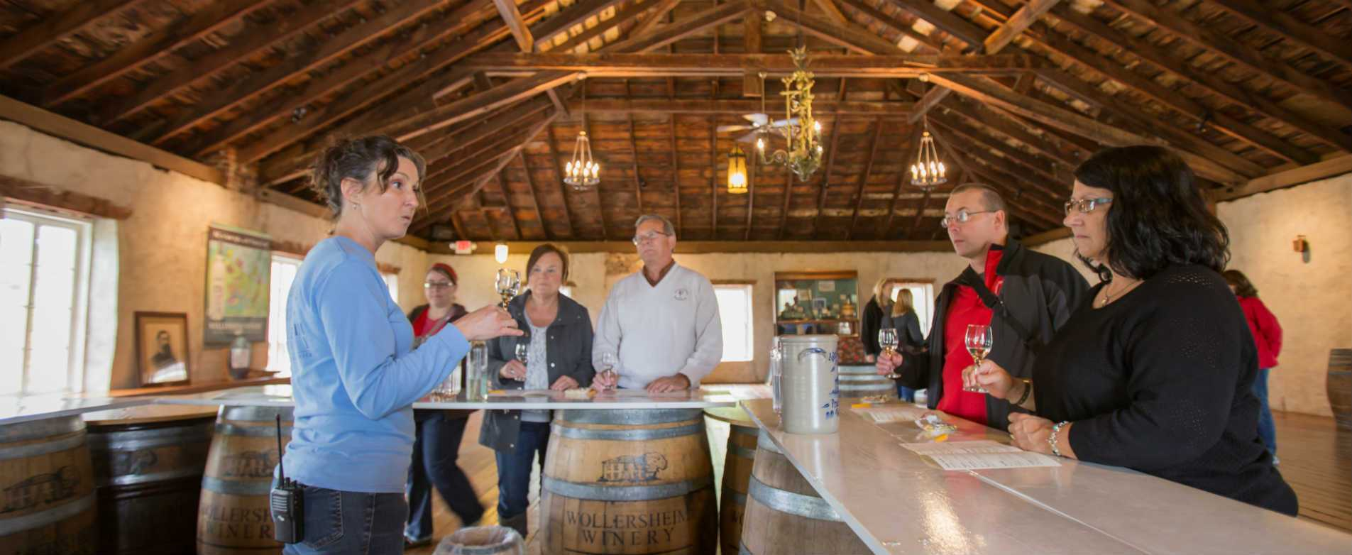 Wine Sampling at Wollersheim Winery