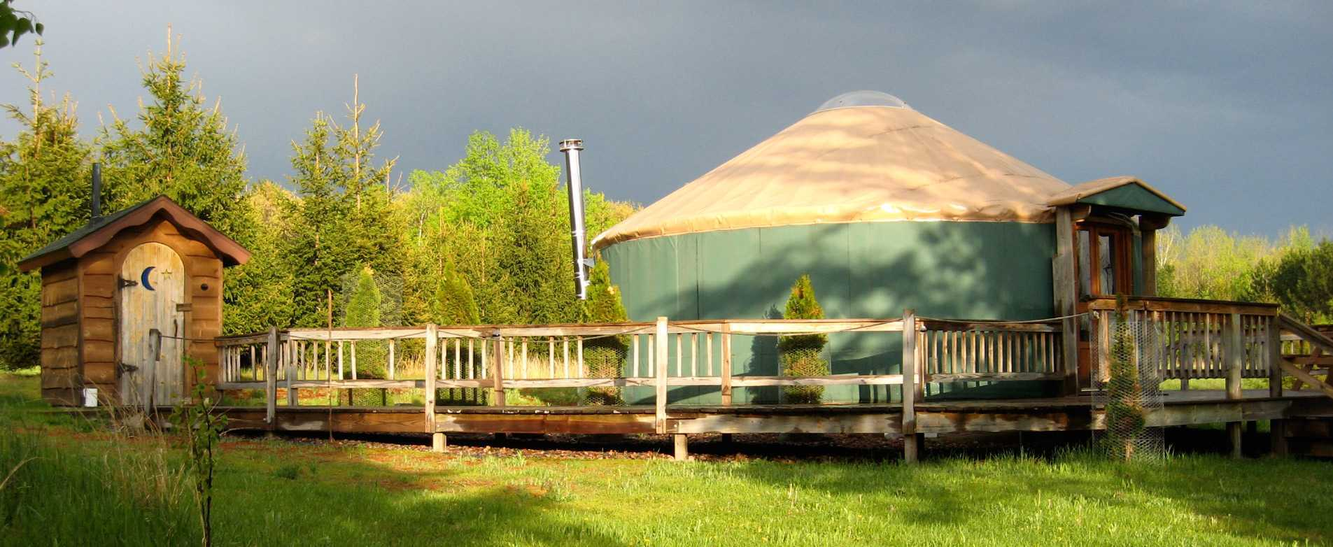Yurt at Namekagon Waters Retreat