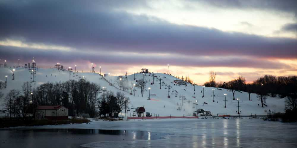 Wilmot Ski Mountain at Dusk
