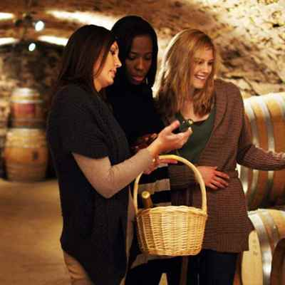 Three women on a wine tour