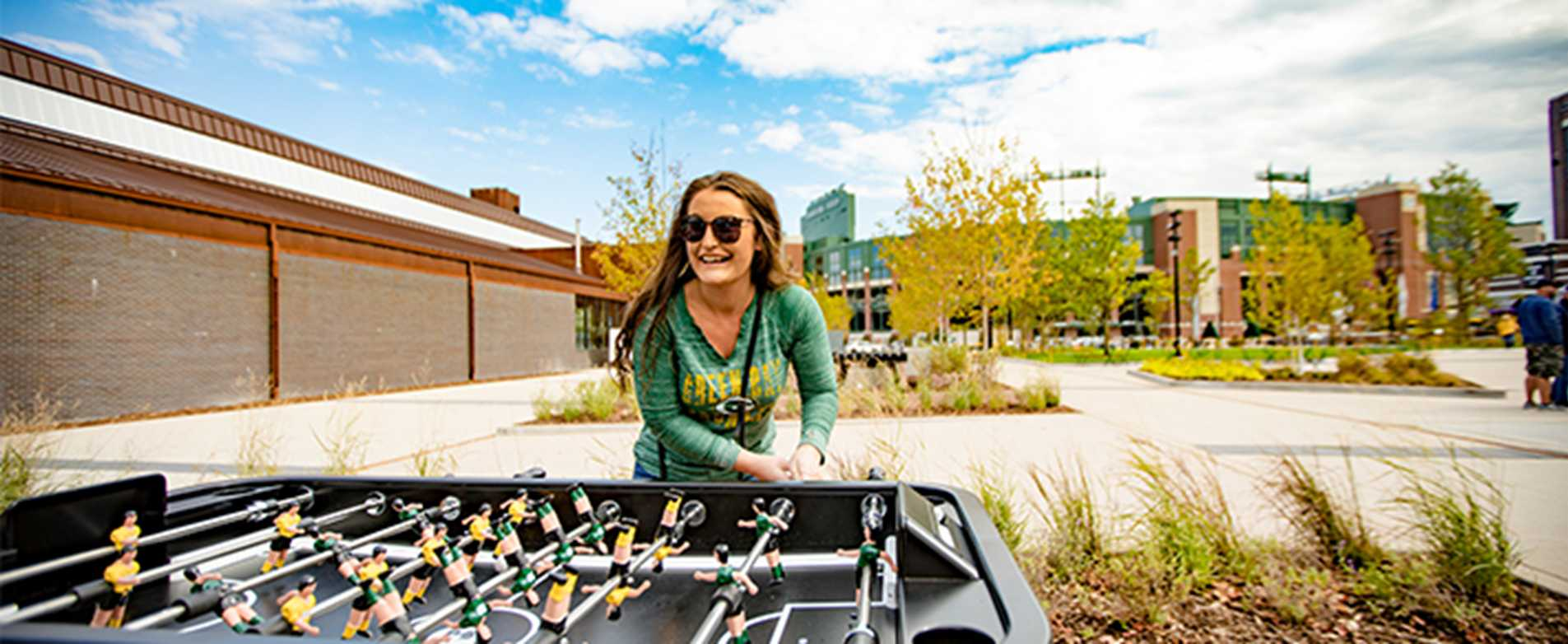 Foosball at Lambeau Field